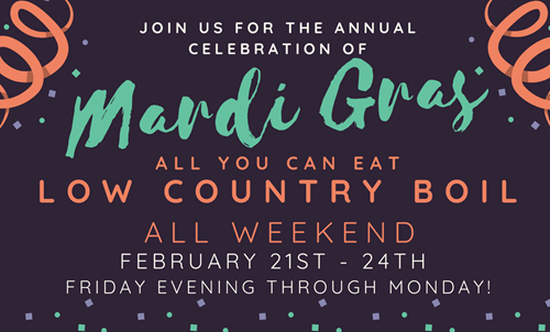 mardi gras bourbon street grill low country boil